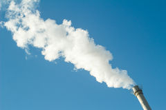 Smoke and chimney. In Beijing Royalty Free Stock Photos