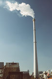 Smoke and chimney. In Beijing Stock Photos