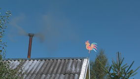 The smoke from the chimney. stock video footage