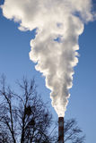 The smoke from the chimney. Environmental pollution is one of the most important problems of the city Stock Photography