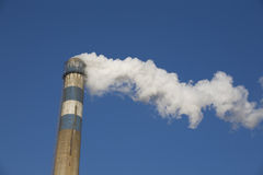 Smoke From a Chimney of Factory Royalty Free Stock Photography