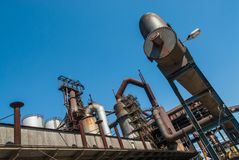 Smoke Chimney Pipes Metallurgy Fabrik In Arbed Luxemburg Royalty Free Stock Photography