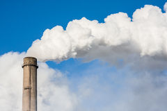 Smoke from the chimney. About technocracy and environmental pollution Stock Image