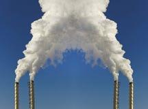 Smoke from chimneys. Stock Photography