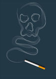 The smoke of cigarette. At navy-blue under the background Royalty Free Stock Image