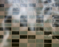 Smoke. Cigarette smoke in a dark room with light Stock Photos