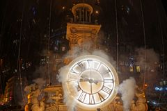 Smoke on the clock, Place des Jacobins royalty free stock photos