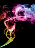 Smoke cloud. On a black background with illumination Royalty Free Stock Photography