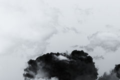 Smoke cloud explosion royalty free stock photos