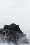 Smoke cloud explosion stock image
