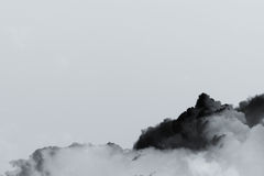 Smoke cloud explosion Stock Photos
