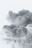 Smoke cloud explosion shape Stock Image