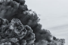 Smoke cloud explosion stock images