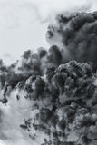 Smoke cloud explosion Royalty Free Stock Photography