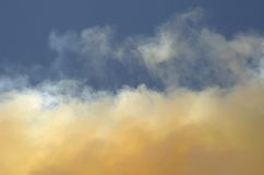 Smoke Cloud Plume 2. Smoke cloud from the Angora fire in Lake Tahoe June 27,2007 Royalty Free Stock Photography