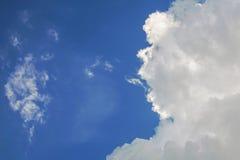 Smoke cloud on the sky. Smoke cloud on the blue sky Stock Photo