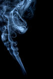 Smoke clouds of smoke incense black Royalty Free Stock Image