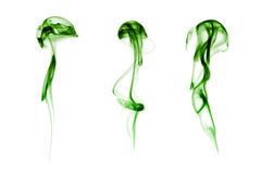 Smoke collection. On white background Royalty Free Stock Photos