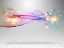 Smoke color. Fire design background Royalty Free Stock Photos