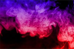 Smoke. Color ink water vape background merger Stock Photo