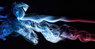 Smoke colored as france flag Royalty Free Stock Image