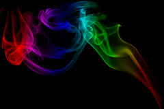 Smoke colorful Stock Photos