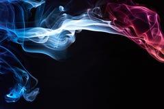 Smoke colourful curves Stock Photos