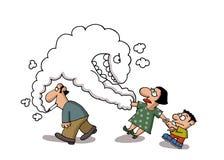 Passive smoking Stock Images