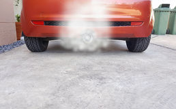 The smoke coming out of the exhaust Stock Images