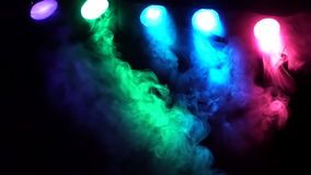 SMOKE AND CONCERT STAGE LIGHTS Full HD Stock Images