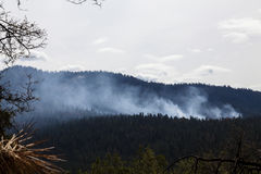 Smoke From Controlled Burn Yosemite National Park Stock Photography