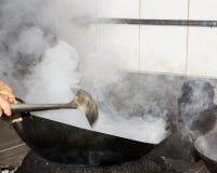 Smoke cooking Royalty Free Stock Images