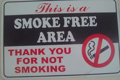 Smoke couse cancer. Thank you for not smoking Royalty Free Stock Image