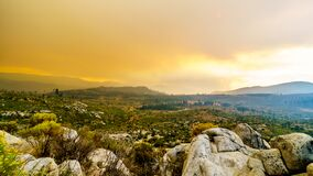 Free Smoke Covering The Sierra Nevada Mountains And The Merced River Valley Due To The 2019 Briceburg Fire Royalty Free Stock Photos - 173511798
