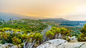 Free Smoke Covering The Sierra Nevada Mountains And The Merced River Valley Due To The 2019 Briceburg Fire Stock Photography - 173511802