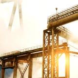 Smoke crane Stock Images