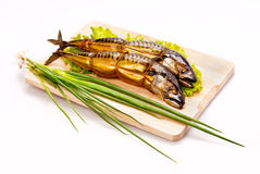 Smoke-cured mackerel Royaltyfria Bilder