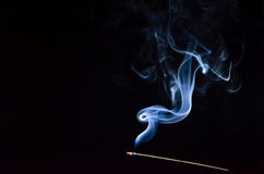 Smoke curled. Stock Images