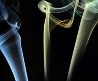 Smoke Curves Royalty Free Stock Photos