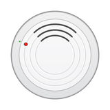 Smoke detector. Smoke alarm detector isolated on white background Royalty Free Stock Photography