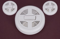 Smoke detector. Three electronic smoke detector. ( small - large Stock Photography