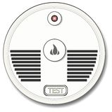 Smoke Detector. This illustration depicts a generic household smoke alarm Stock Image