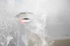 Smoke detector in apartment Royalty Free Stock Photos