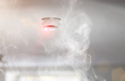 Smoke detector in apartment Royalty Free Stock Photography
