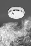 Smoke detector of fire alarm Stock Image