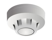 Smoke detector. Vector illustration of fire and smoke sensor  on white background Royalty Free Stock Image