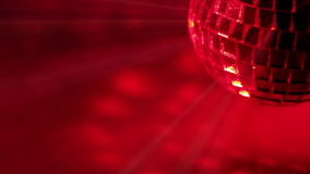Smoke and Disco Ball. Seamless loop Royalty Free Stock Photography