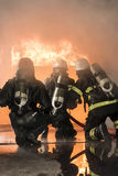 Smoke diving firefighters #1 Royalty Free Stock Photos
