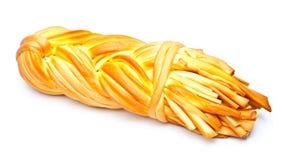 Smoke-dried braid cheese Stock Image