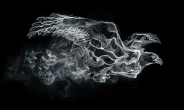 Smoke Eagle. Isolated on the Black Background. Computer Graphics Royalty Free Stock Image